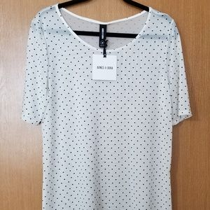 Agnes and Dora Sheer Fitted Tee